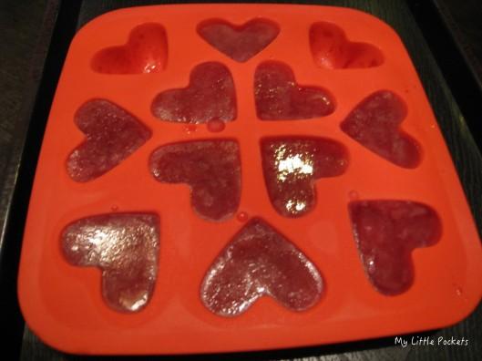 heart-shaped ice
